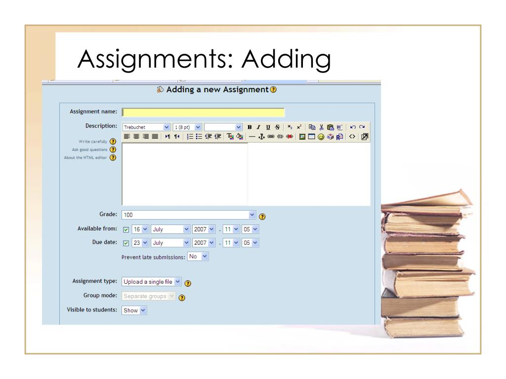 Assignments: Adding