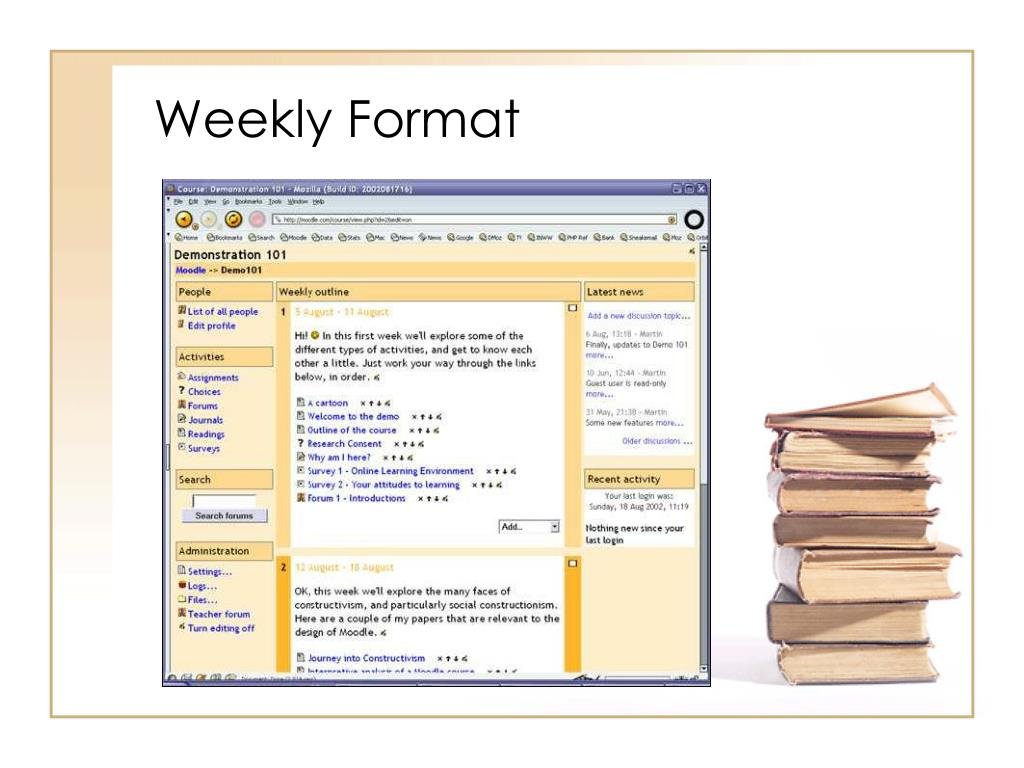 Weekly Format