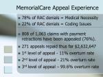 memorialcare appeal experience