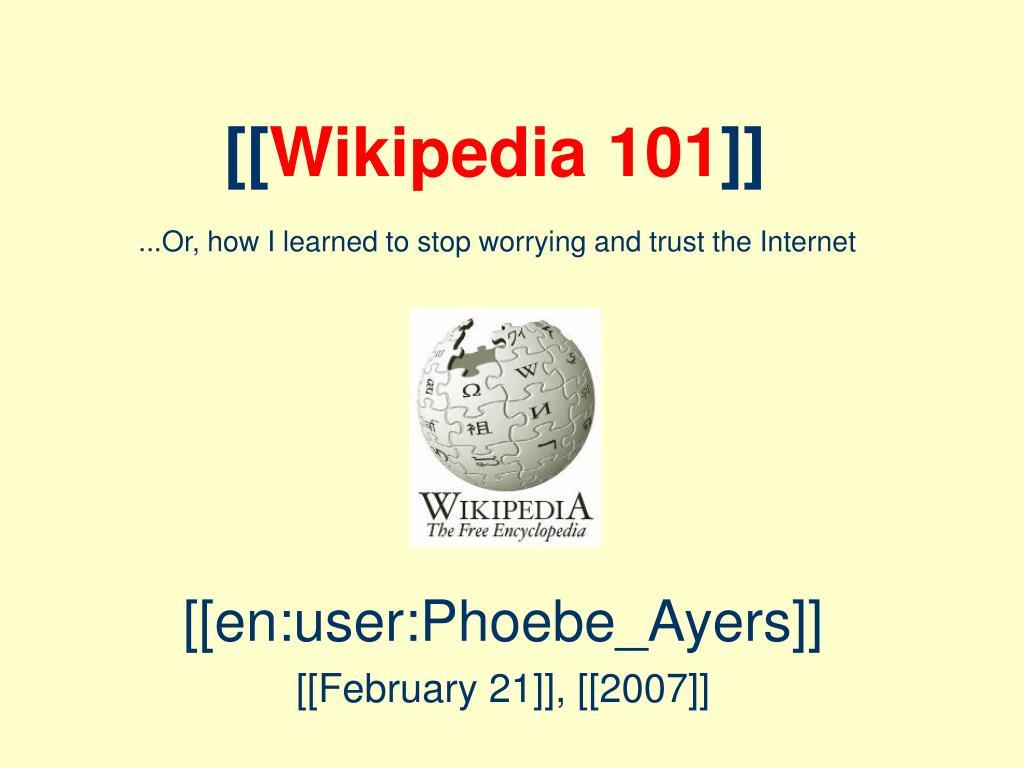 wikipedia 101 l.