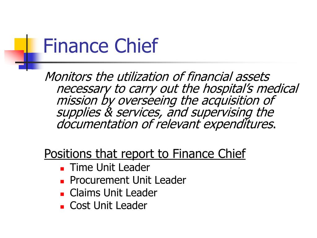 Finance Chief