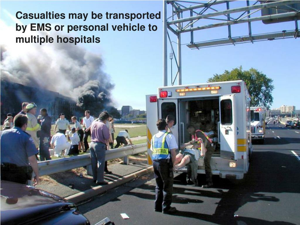 Casualties may be transported