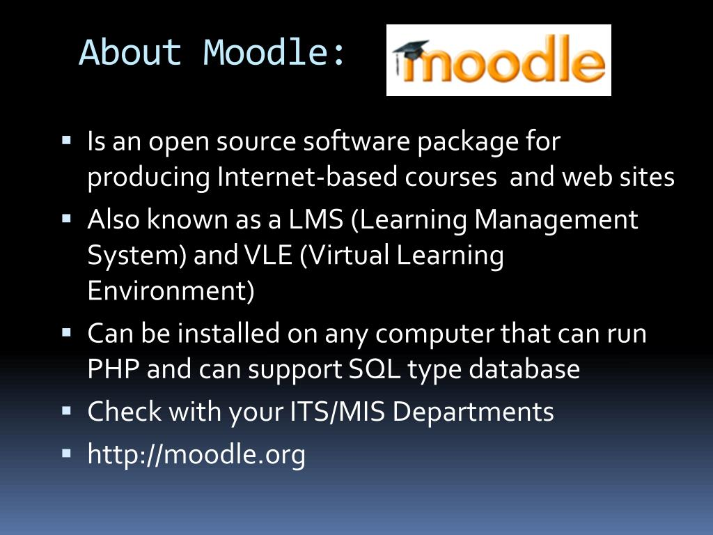 About Moodle: