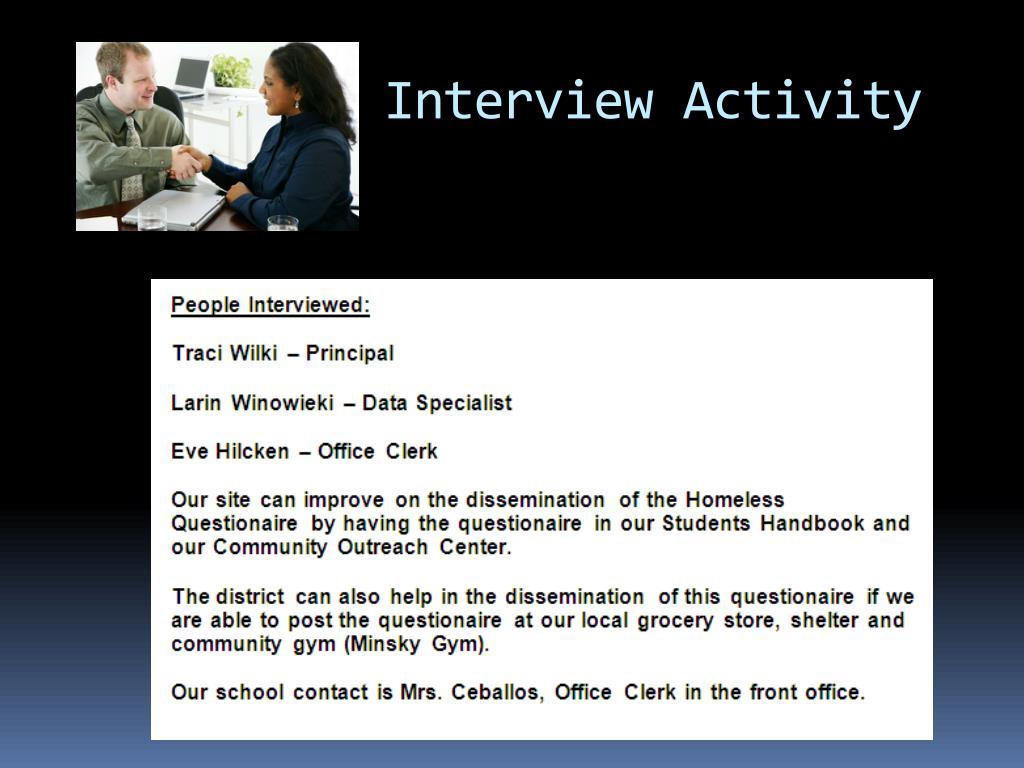 Interview Activity