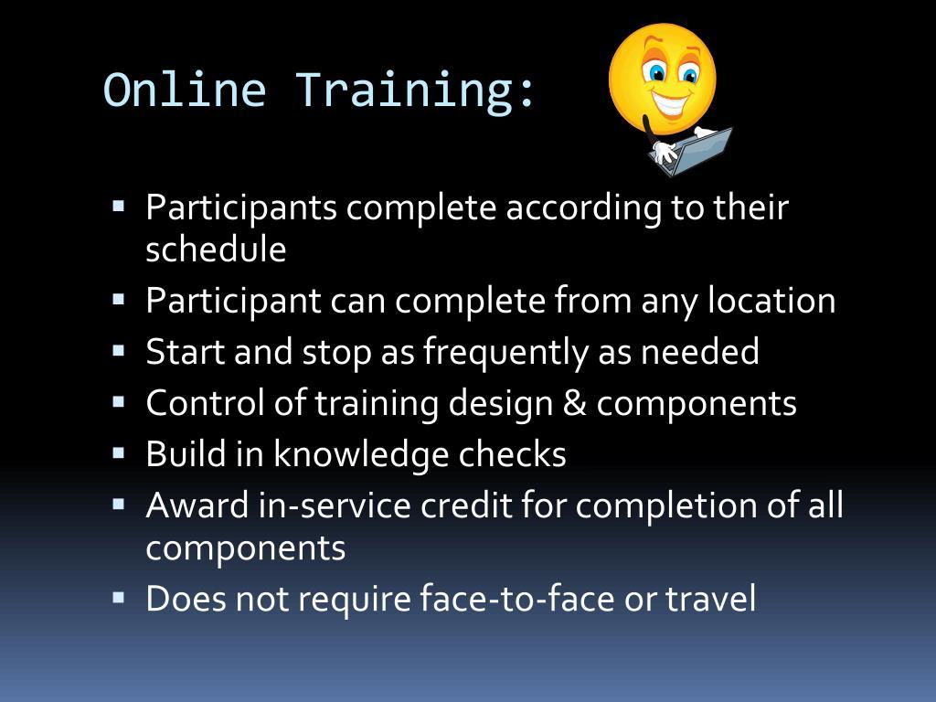 Online Training: