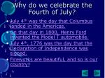 why do we celebrate the fourth of july