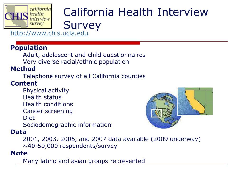 California Health Interview Survey