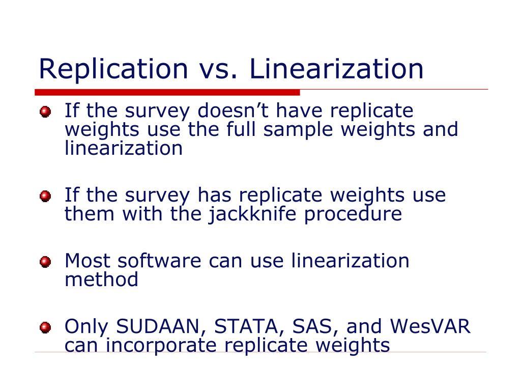 Replication vs. Linearization