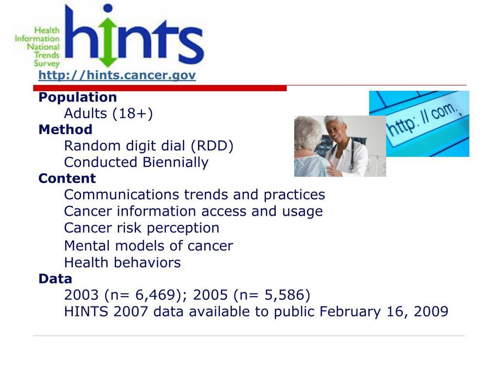 http://hints.cancer.gov