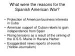what were the reasons for the spanish american war