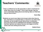 teachers comments