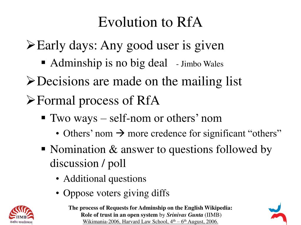Evolution to RfA