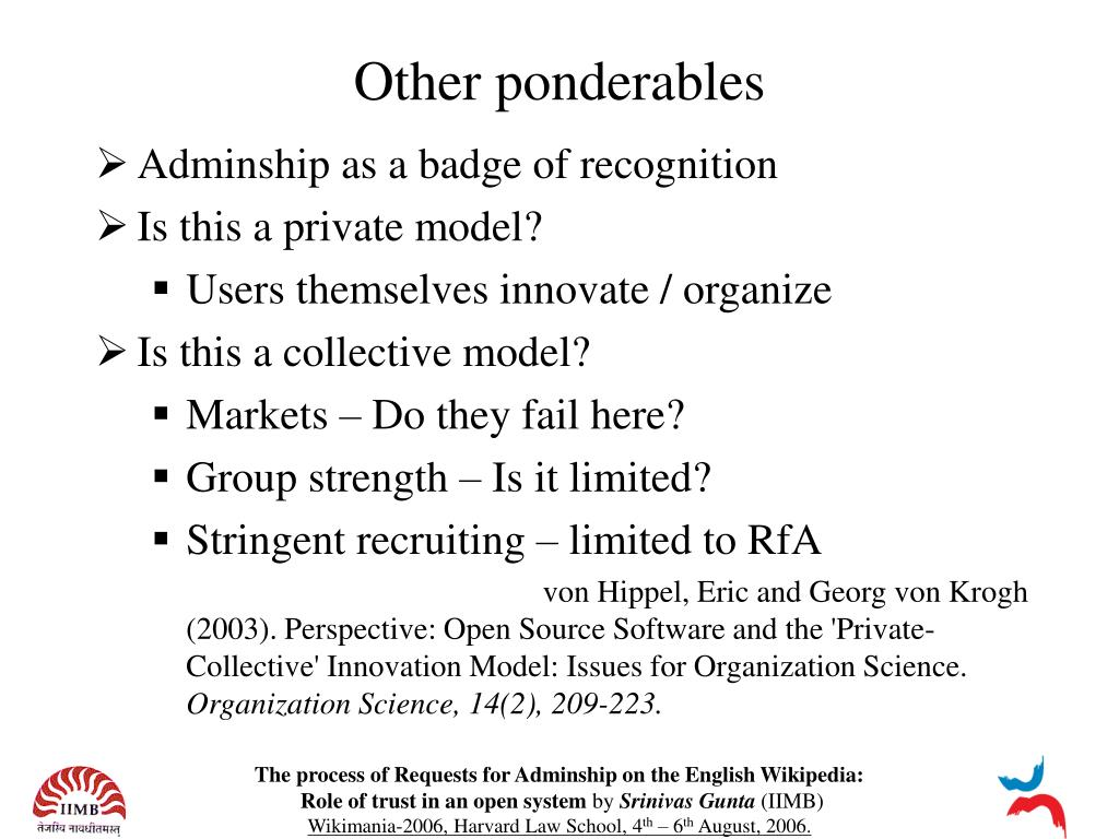 Other ponderables