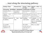 trust along the structuring pathway15