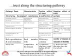 trust along the structuring pathway18