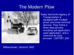 the modern plow
