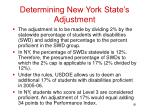 determining new york state s adjustment