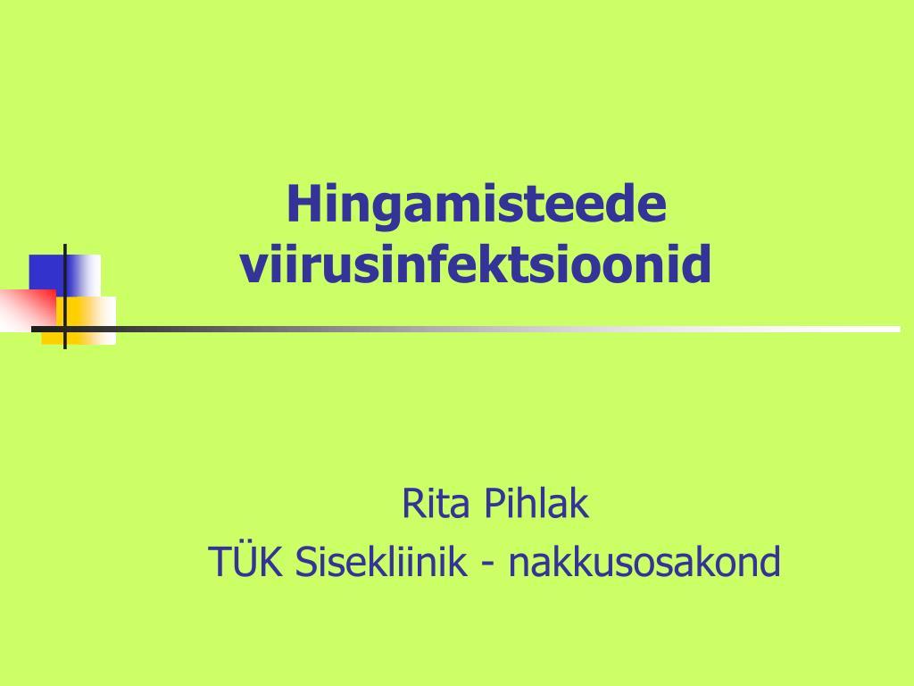 hingamisteede viirusinfektsioonid