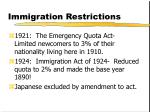 immigration restrictions12
