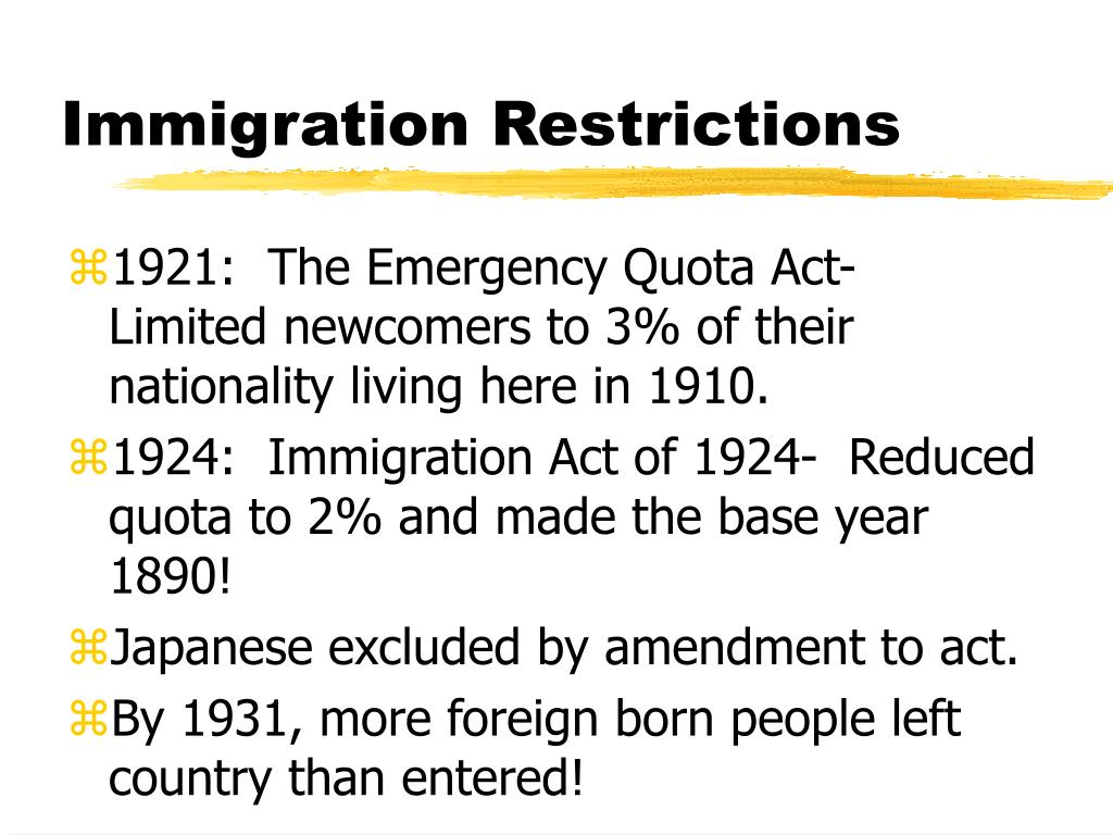 immigration restriction act essay