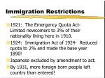immigration restrictions13