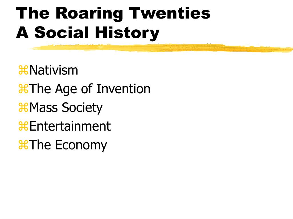 the roaring twenties a social history l.