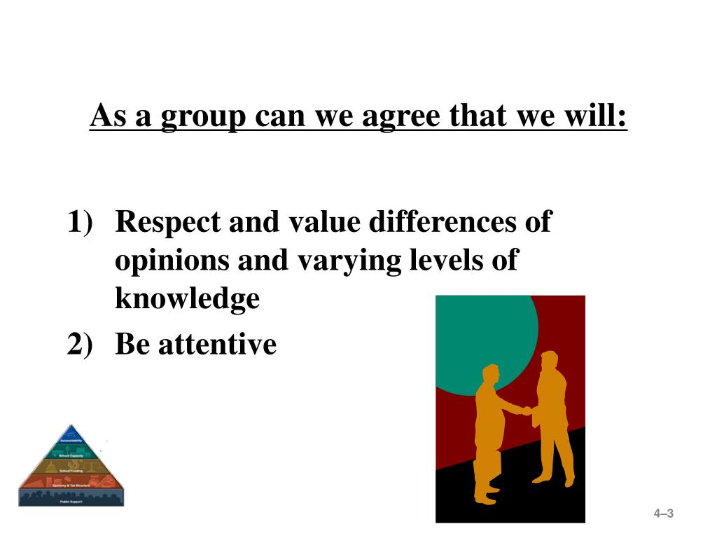 As a group can we agree that we will:
