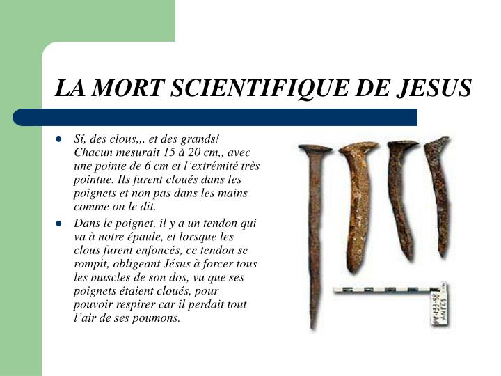 La mort scientifique de jesus2