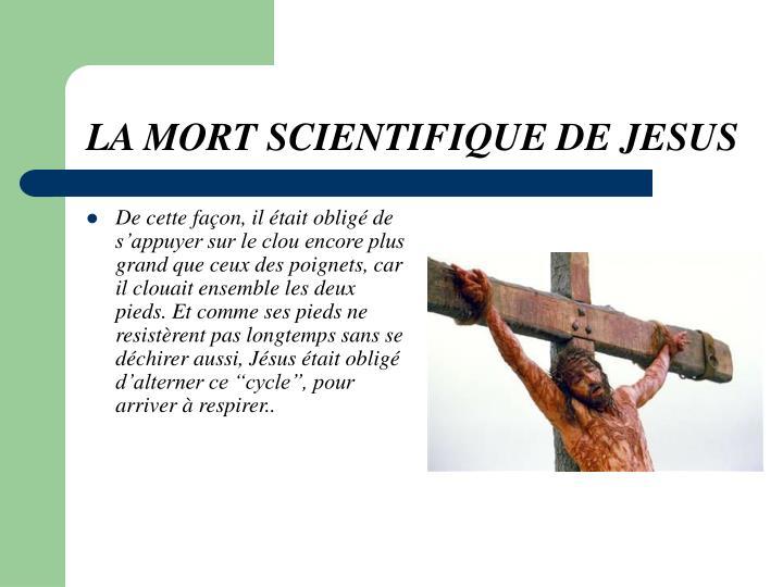 La mort scientifique de jesus3