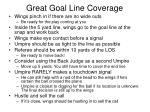 great goal line coverage