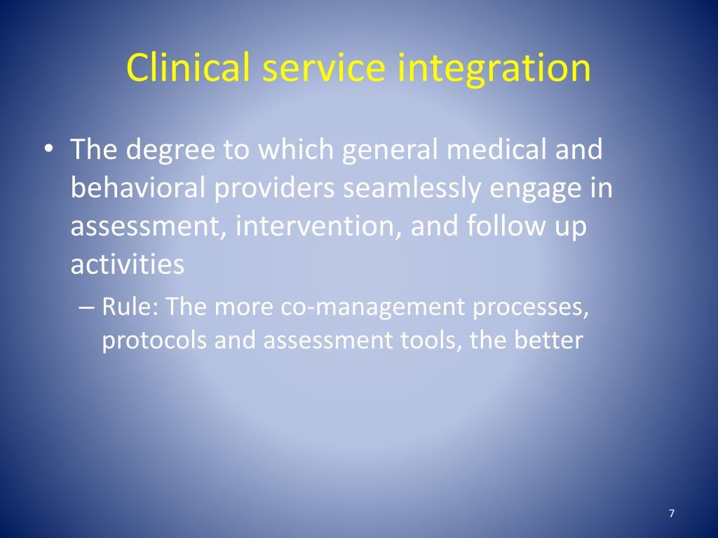 Clinical service integration