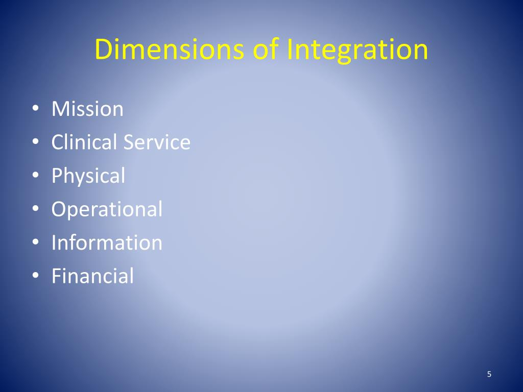 Dimensions of Integration