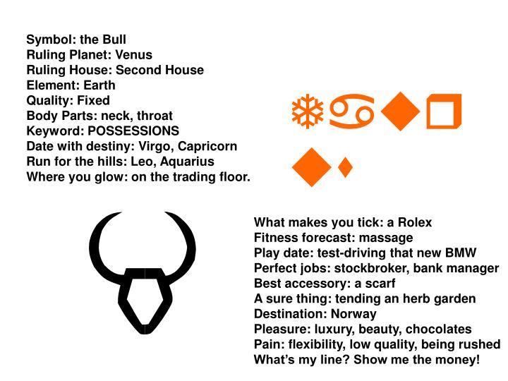 Symbol: the Bull