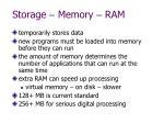 storage memory ram