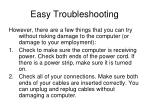 easy troubleshooting