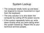system lockup