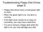troubleshooting floppy disk drives page 2