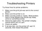 troubleshooting printers
