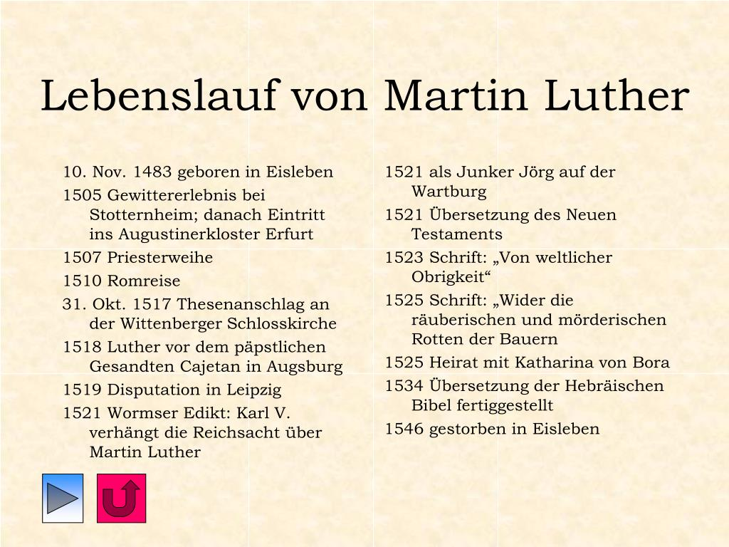 Tabellarischer Lebenslauf Von Martin Luther 8
