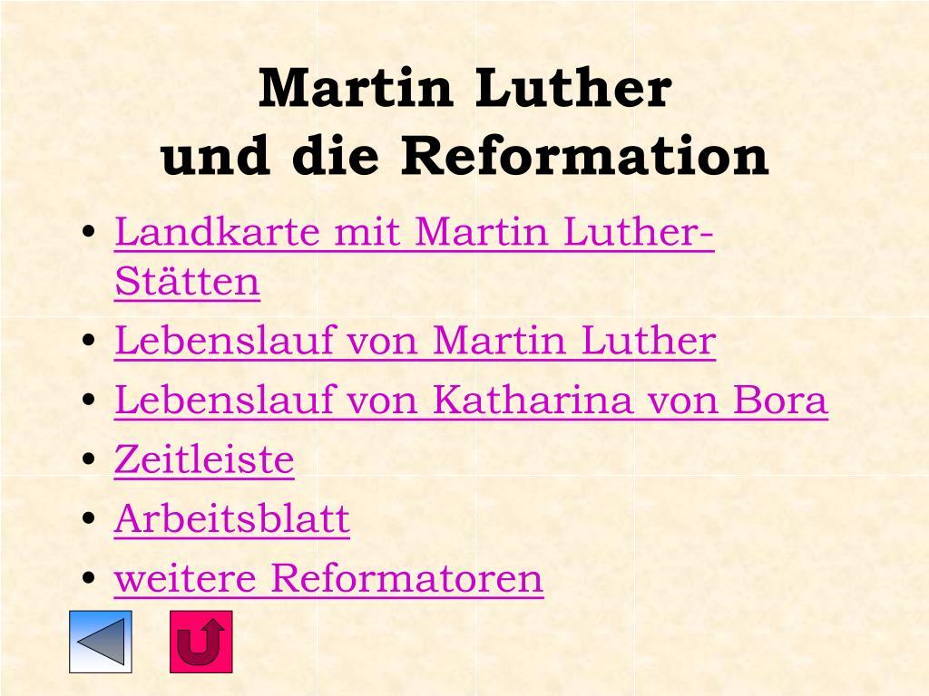 PPT - Martin Luther und die Reformation PowerPoint ...