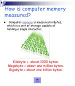 how is computer memory measured