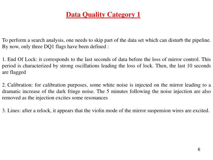 Data Quality Category 1