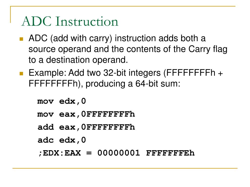 ADC Instruction