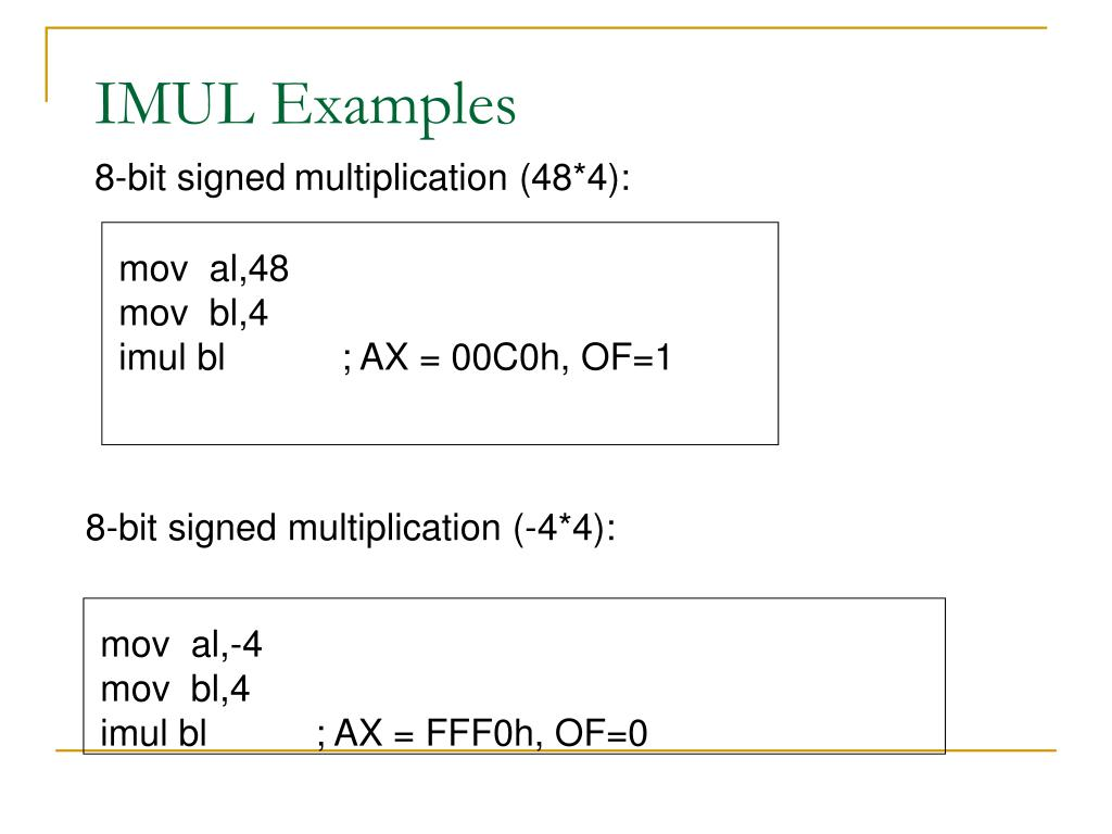 8-bit signed multiplication (-4*4):