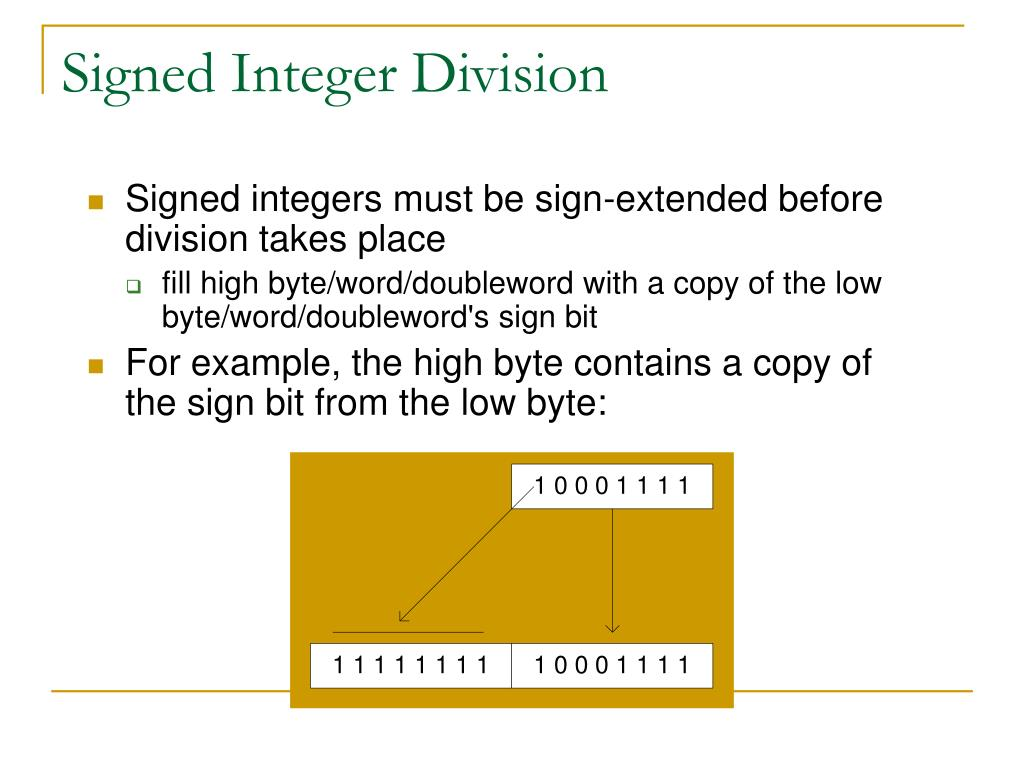 Signed Integer Division