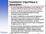 installation frigorifique absorption