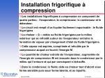 installation frigorifique compression