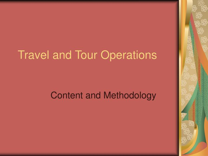 travel and tour operations n.