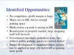 identified opportunities