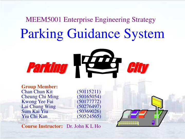 parking guidance system n.
